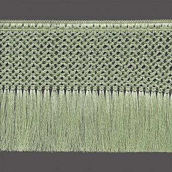 FRANJA MACRAMÊ 15,8cm VERDE CLARO