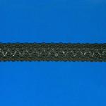 PASSAMANARIA BARROCA 2,7cm PRETO/PRATA