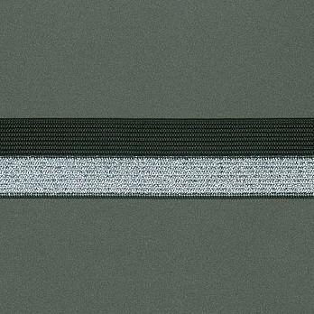 ELASTICO DUO 2,9cm PRETO/PRATA