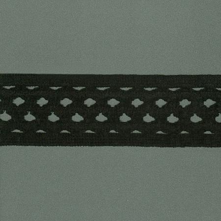 ELASTICO GRADE CHENILLE 5,4cm PRETO