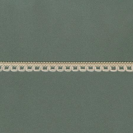 RENDA PICOT CHENILLE 1,3cm BEGE