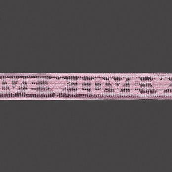 ELÁSTICO LOVE 3,2cm ROSA/LUREX TRANSPINK