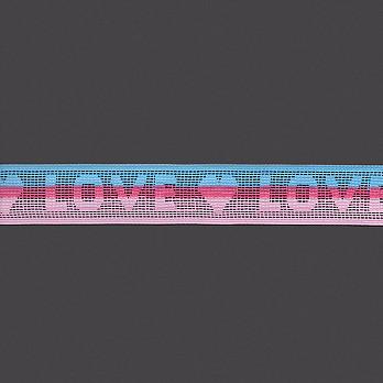 ELÁSTICO LOVE 3,2cm AZUL/PINK/ROSA