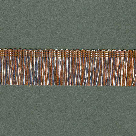FRANJA DESFIADA 2,9cm AZUL/CHAMPAGNE/CONHAQUE/MARROM