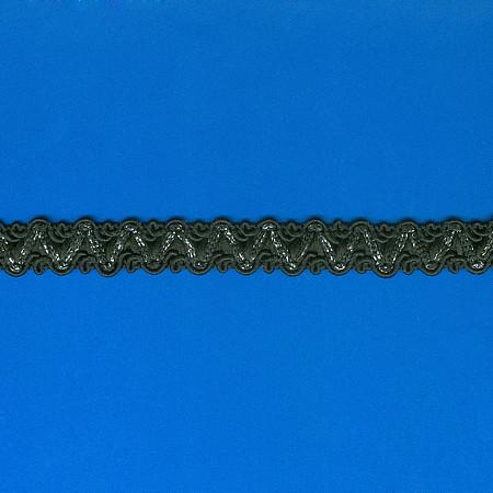 PASSAMANARIA BARROCA 1,5cm PRETO/PRATA
