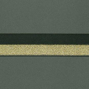 ELASTICO DUO 2,9cm PRETO/OURO