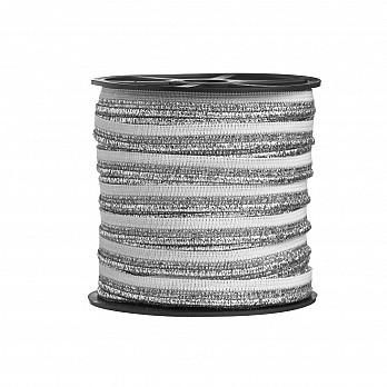 VIVO CROCHET 1,2cm BRANCO/PRATA