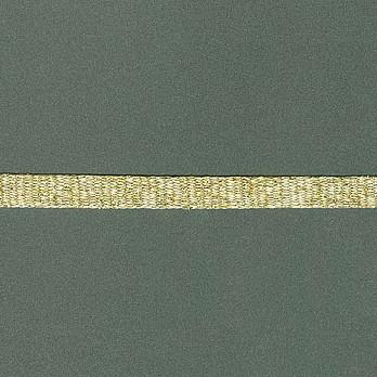 CORDAO CHATO GLAMOUR 1cm AREIA/OURO