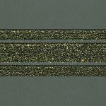 ELASTICO GLOW VAZADO 5cm PRETO/OURO