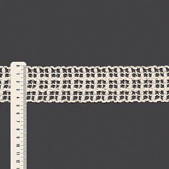 RENDA TRAMADA 4,6cm CRU