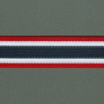 ELASTICO NAVAL 3,5cm VERMELHO/AZUL/BRANCO