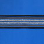 ELÁSTICO VAZADO 4,8cm CHUMBO/GRAFITE/PRATA