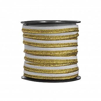 VIVO CROCHET 1,2cm BRANCO/OURO